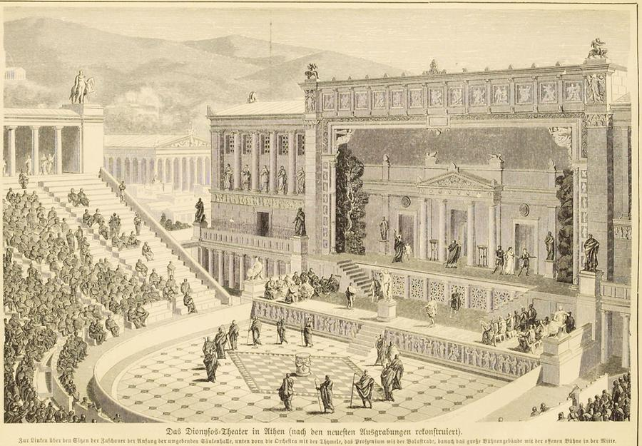 Illustration Dyonisus Theater in Athen