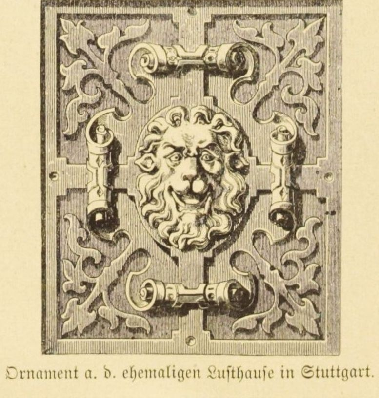 Illustration Ornament a. d ehemaligen Lusthause zu Stuttgart