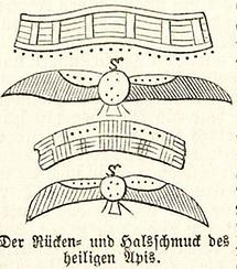 Rücken- und Halsschmuck des heiligen Apis