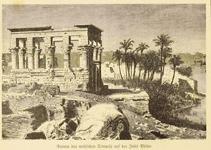 Tempelruinen auf der Insel Philae