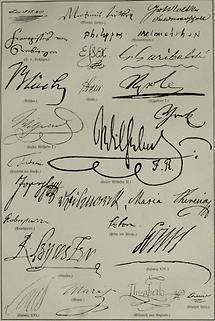 Autographen (Tafel I)