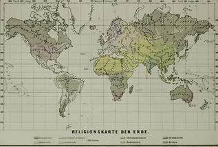 Religionskarte der Erde
