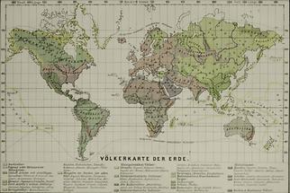 Völkerkarte der Erde