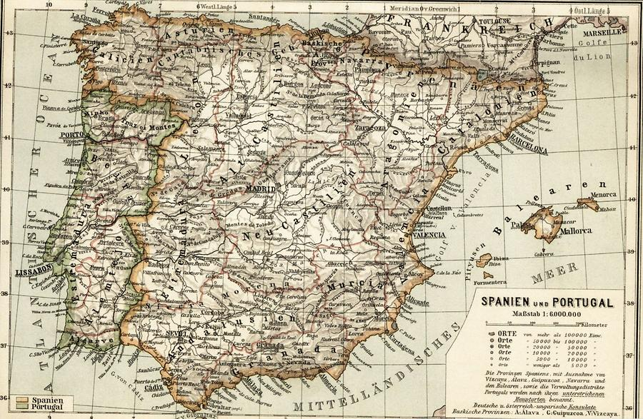 Illustration Spanien und Portugal