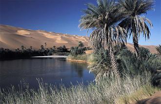 Libyen Mandara See im Erg Ubari