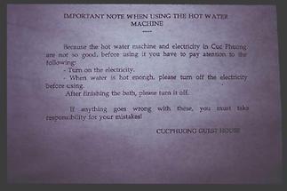 Boilerbenützungsvorschrift