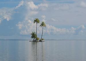Bild in der größten Lagune der Insel