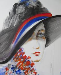 Dame mit Hut I