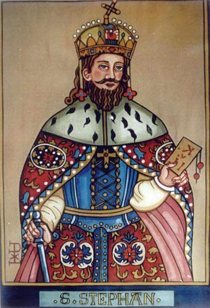 Hl stephan könig von ungarn pfister lex berta zeitgenössische