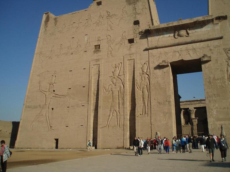 Left Pylon, Temple at Edfu