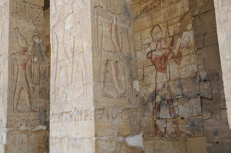 Reliefs, Temple of Abydos