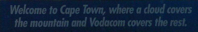 Advertisement in Cape Town