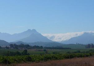 On the way to Stellenbosch