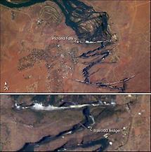 Victoria Falls, Satellite Image