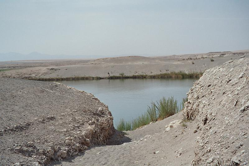 Small lake in the middle of the desert