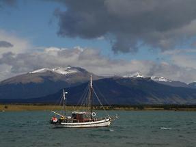 Lake near Puerto Natales