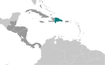 Dominican Republic in Central America and Caribbean