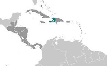 Haiti in Central America and Caribbean