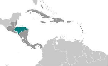Honduras in Central America and Caribbean