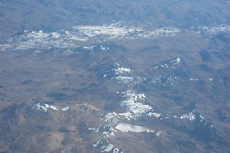 Andes, aerial view