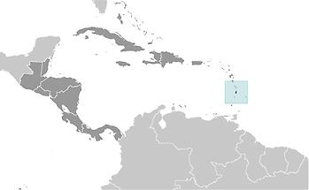 Saint Lucia in Central America and Caribbean