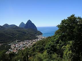 Berge auf St Lucia