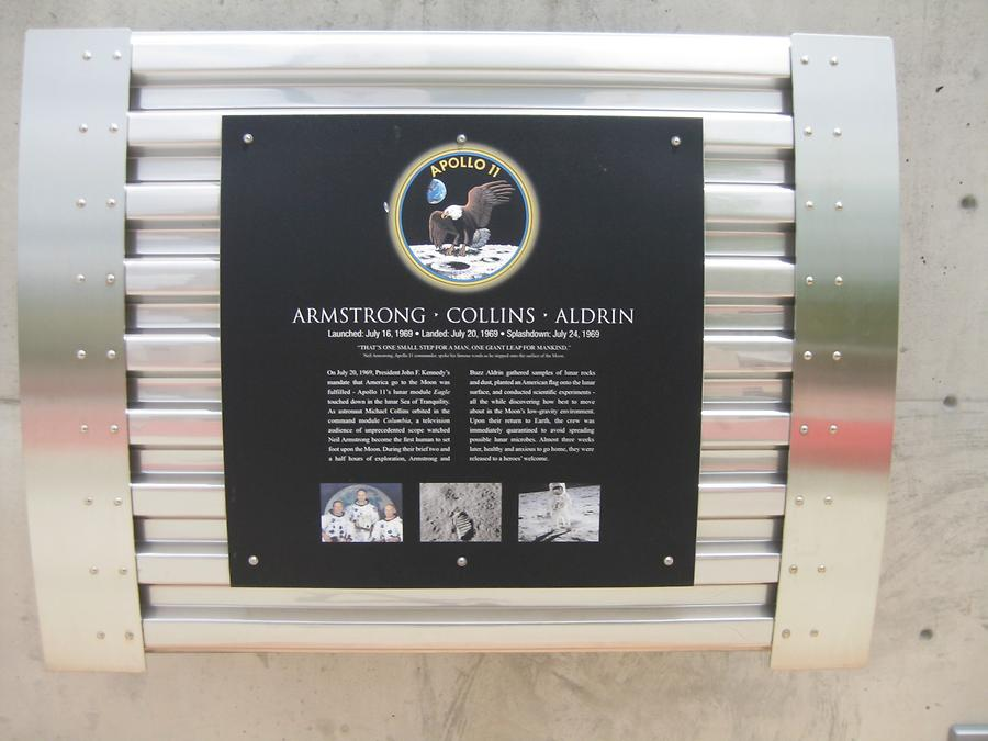 board in remembrance of Apollo 11