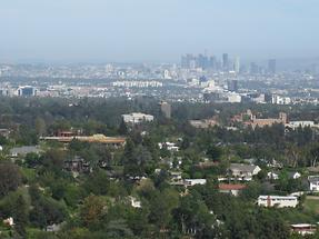 LA Getty Center Blick auf LA (1)