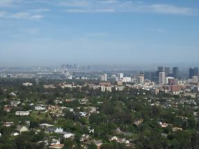 LA Getty Center Blick auf LA (2)