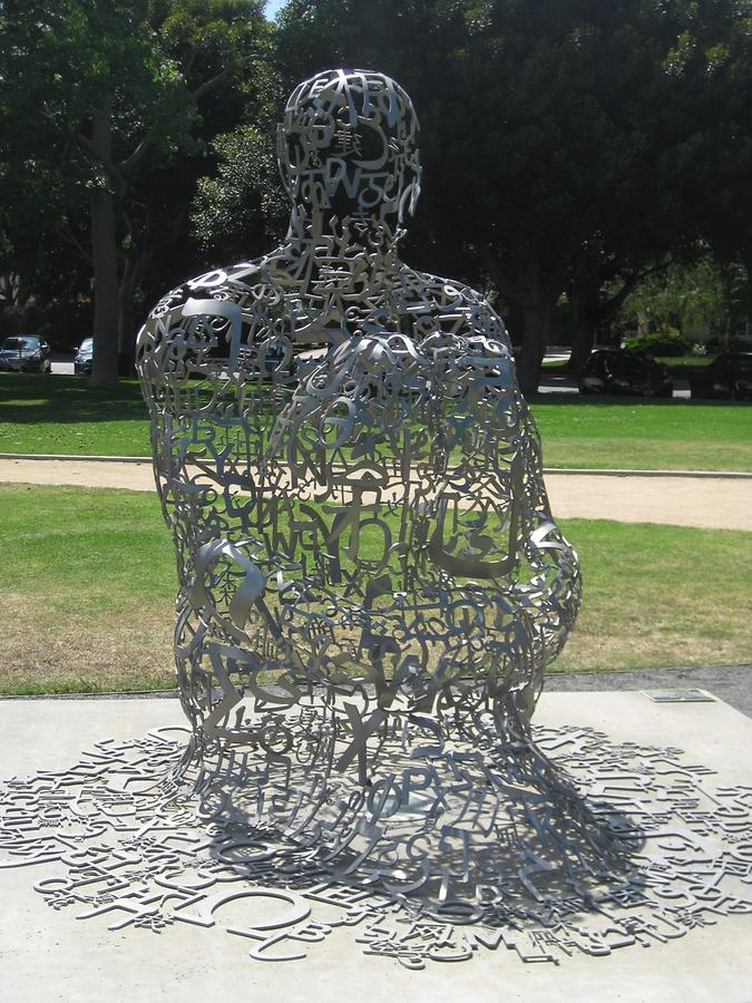 Beverly Hills Beverly Gardens Park Endless by Jaume Plensa