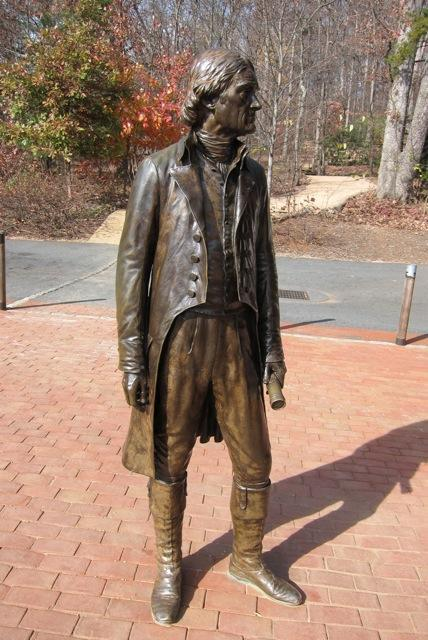 Bronze statue of Thomas Jefferson
