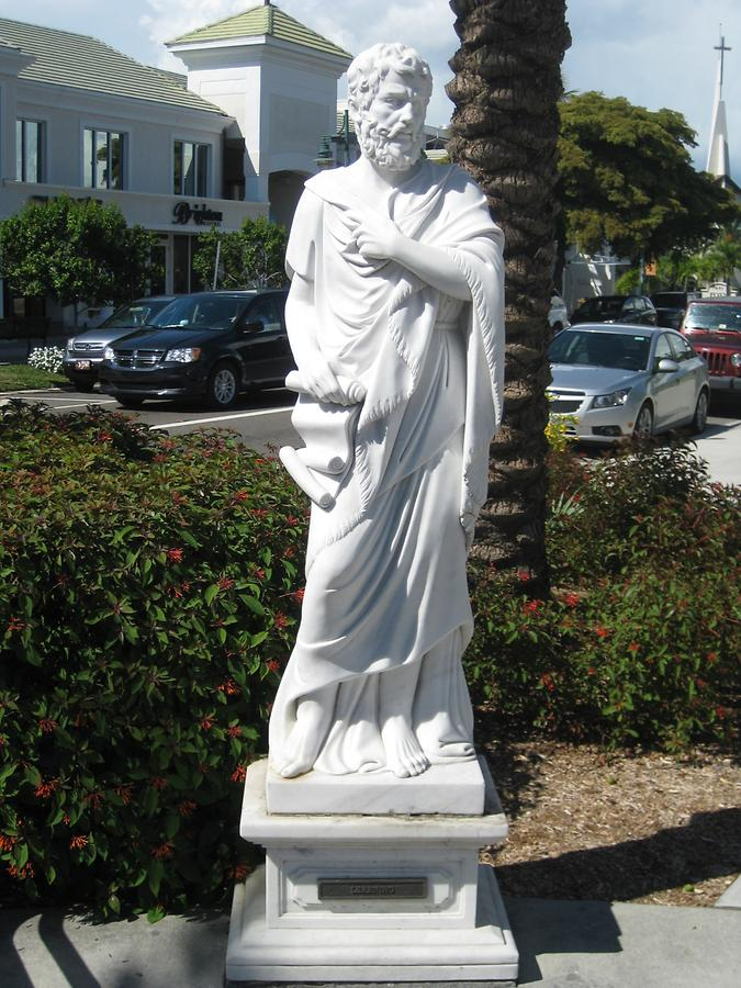 Sarasota Saint Armand's Circle Seven Virtues Statue Learning (Aristotle)