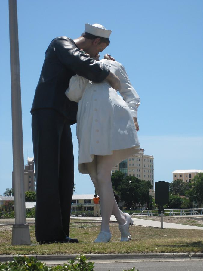 Sarasota Unconditional Surrender Sculpture