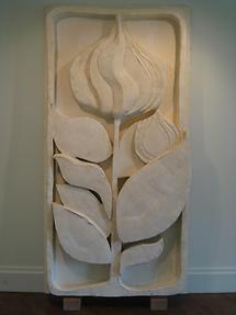 Cornwall-on-Hudson Storm King Art Park Flower Panel von Thomas Houseago