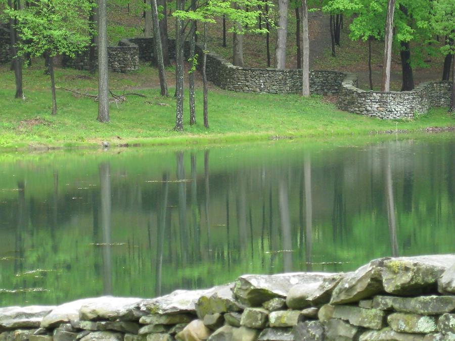 Cornwall-on-Hudson Storm King Art Park Storm King Wall von Andy Goldsworthy