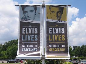 Memphis Elvis Lives Flag