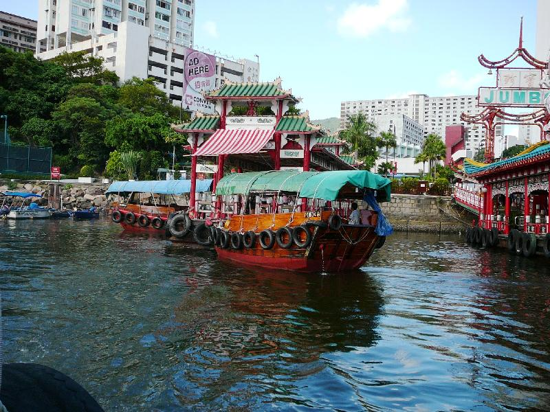 Thousands of large families live on junks, on sampans, on rotten boats and barges