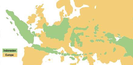 Size-comparison Europe-Indonesia