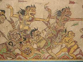 Klungkung Kerta Gosah Fürst Bhima kämpft