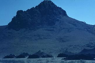 Black nomadic tents