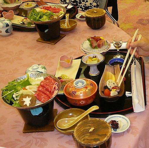Typical Japanese dinner