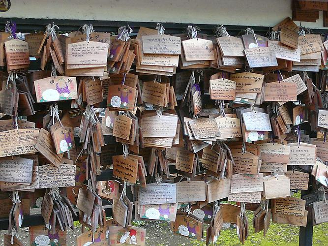 Ueno Toshogu Shrine, wishboards