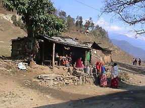 Scene along a hike near Kathmandu