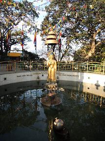 Svayambhunath fountain