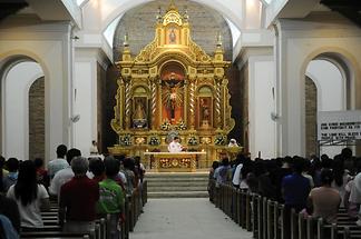 Inside the Kalibo Church