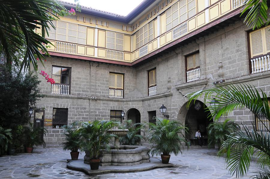 Inner courtyard of the Casa Manila