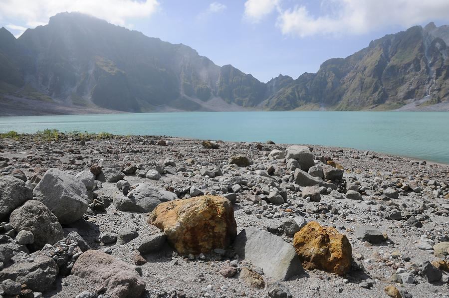 Crater lake of Mount Pinatubo