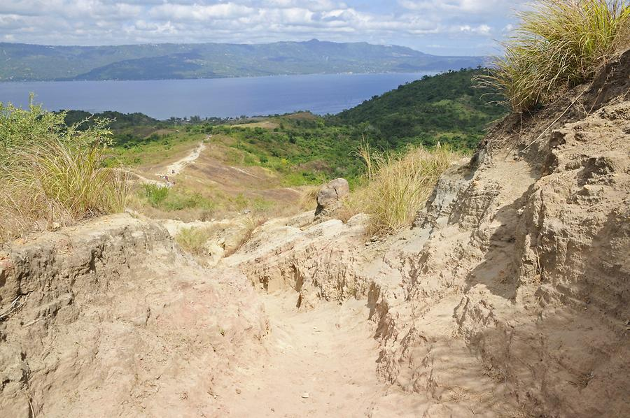 Ascent to the Taal crater