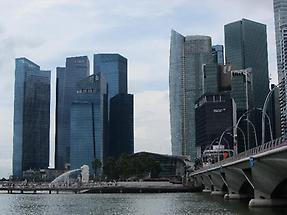 Skyline, Singapore business district (1)