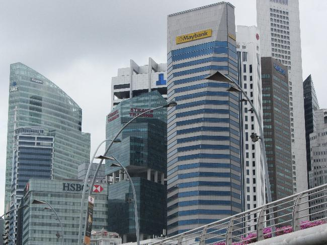 Skyline, Singapore business district (2)